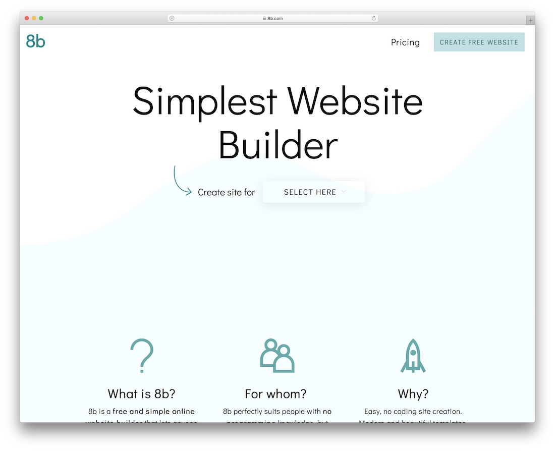 8b website builder software