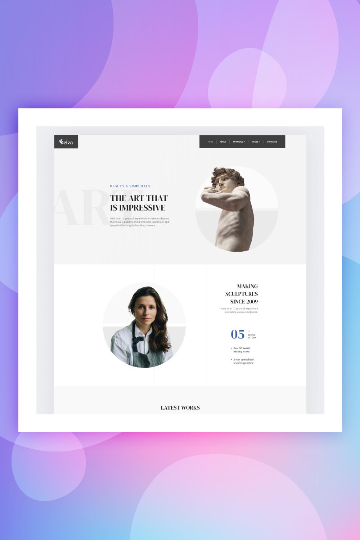 Sculptor Website Design - TemplateMonster