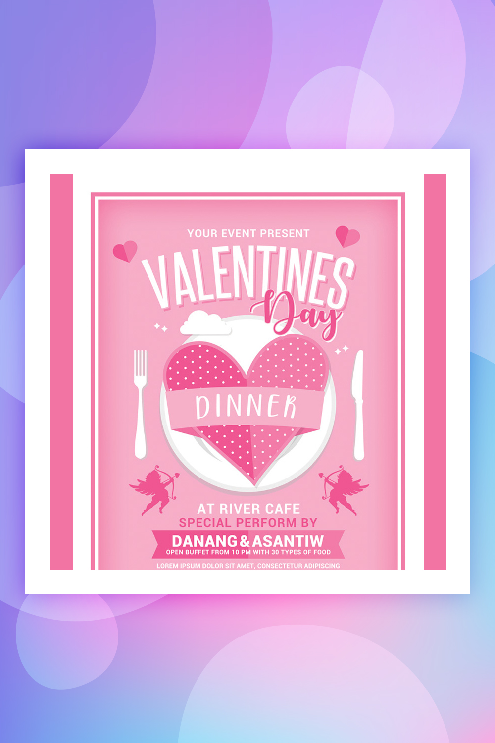 Valentines Day Dinner Corporate Identity Template