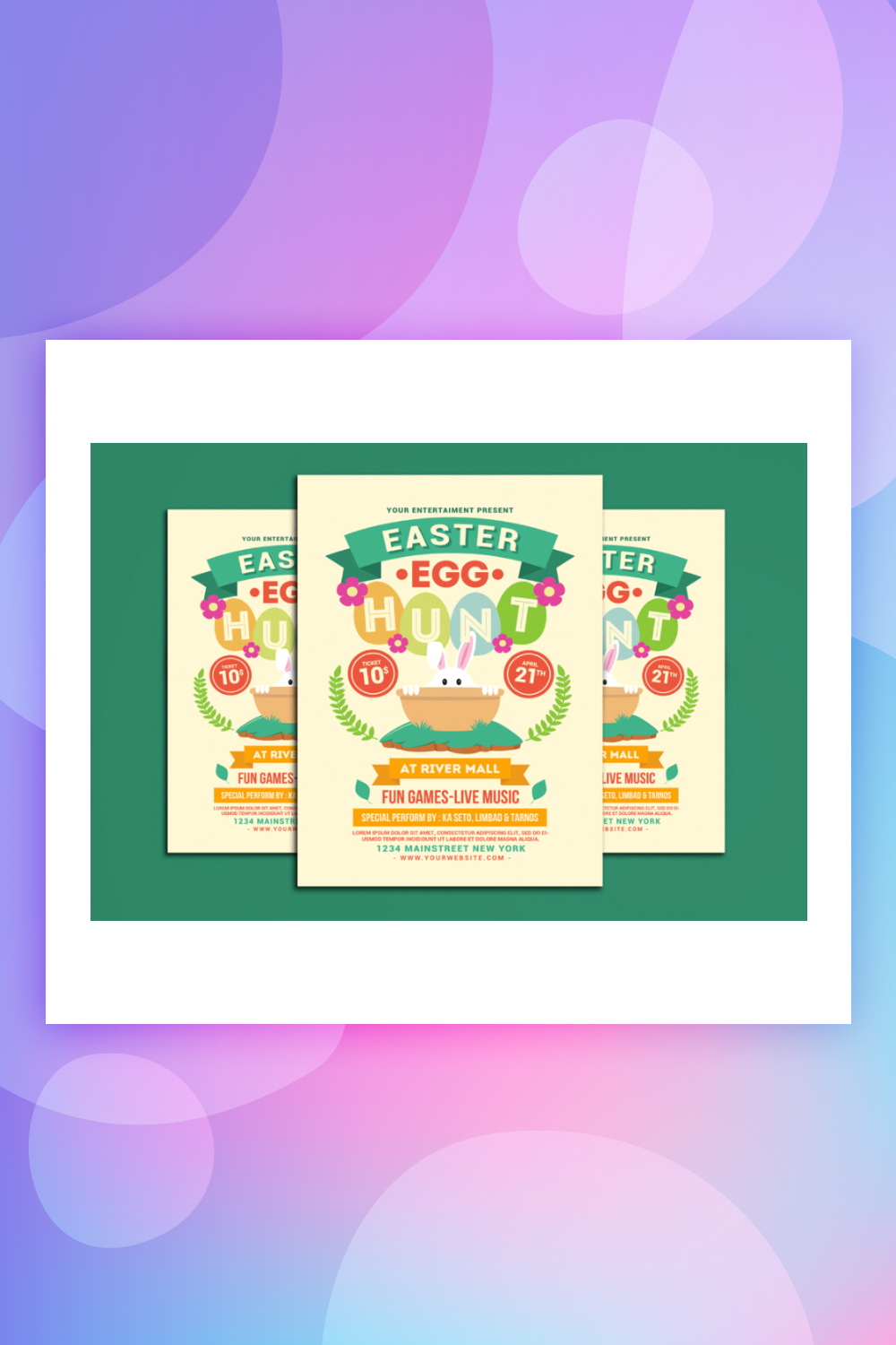 Easter Egg Hunt Flyer Corporate Identity Template