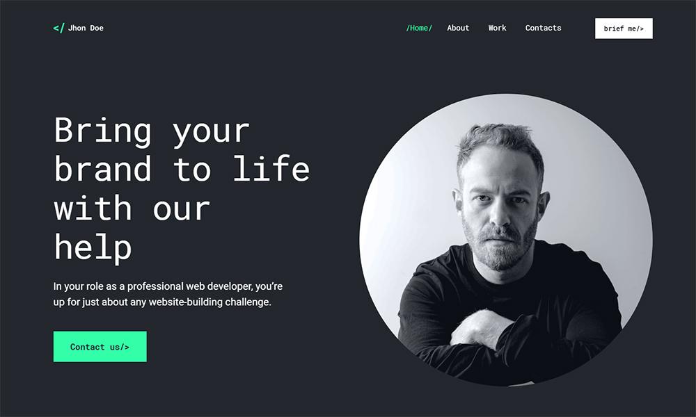 Jhon Doe - Contemporary Web Developer WordPress Theme