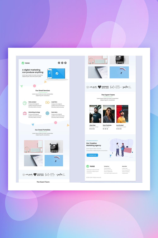 Hotak - Digital Marketing Email Newsletter Template