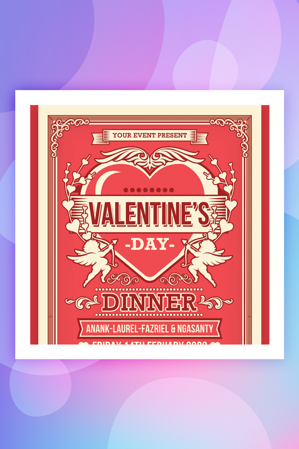 Valentine's Day Dinner Flyer Corporate Identity Template