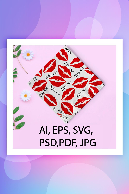 Kiss Me Saint Valentine's Day Pattern