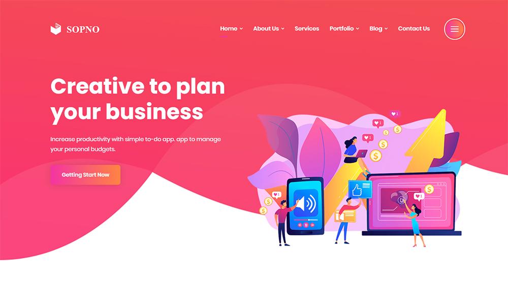 Sopno Multipurpose HTML5 Bootstrap Website Template