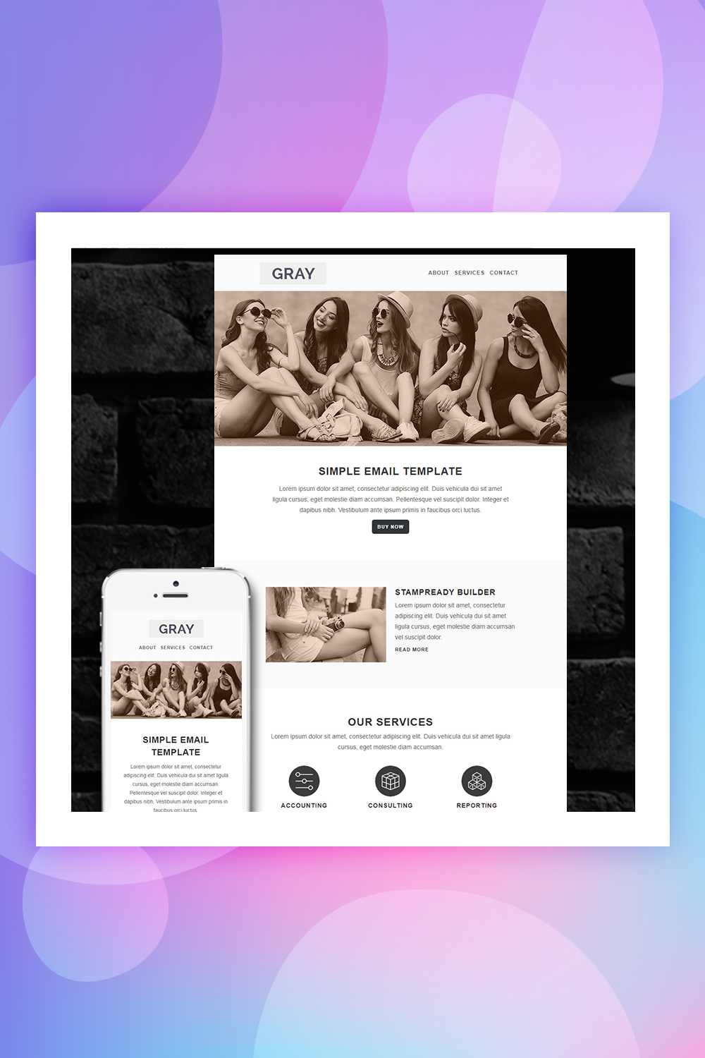 GRAY - Responsive Email Newsletter Template