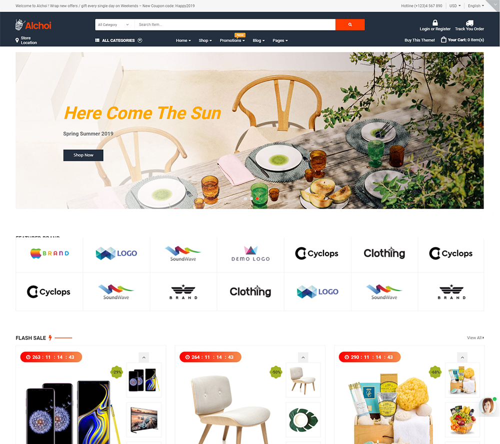 Alchoi - Megastore MarketPlace WooCommerce Theme