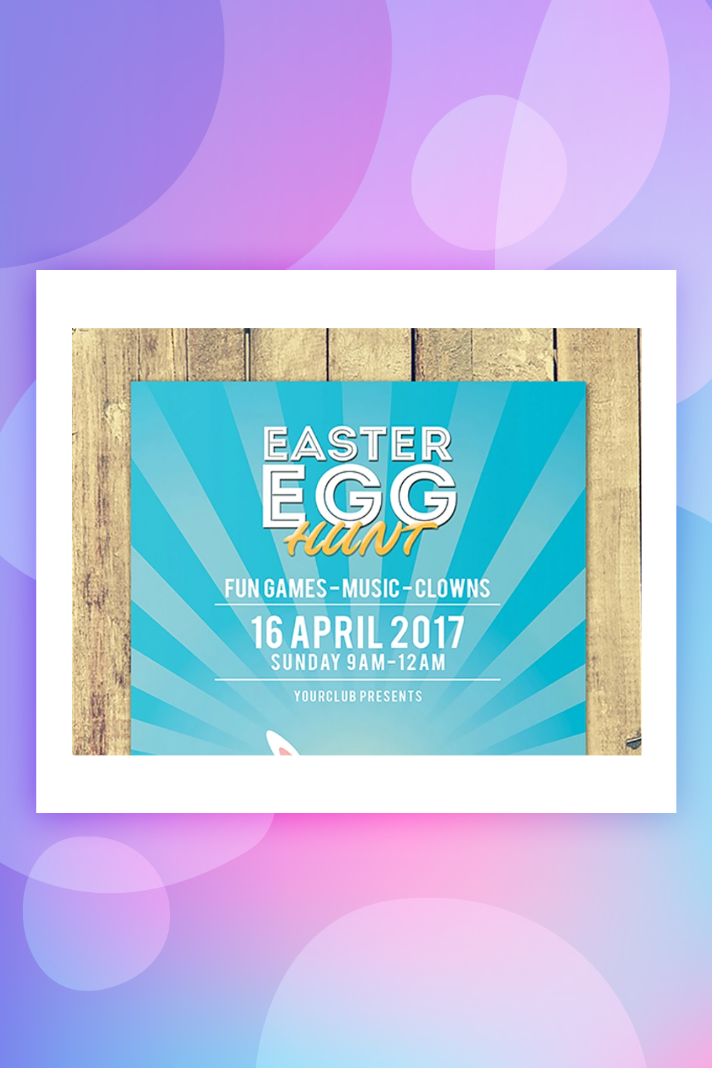 Easter Party Invitation Flyer Corporate Identity Template