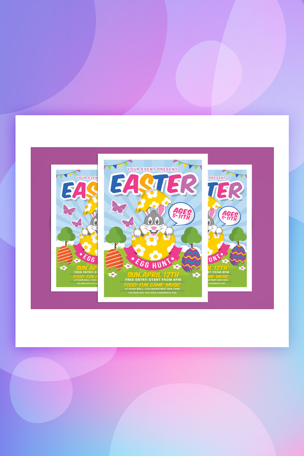 Easter Egg Hunt For Kids Corporate Identity Template