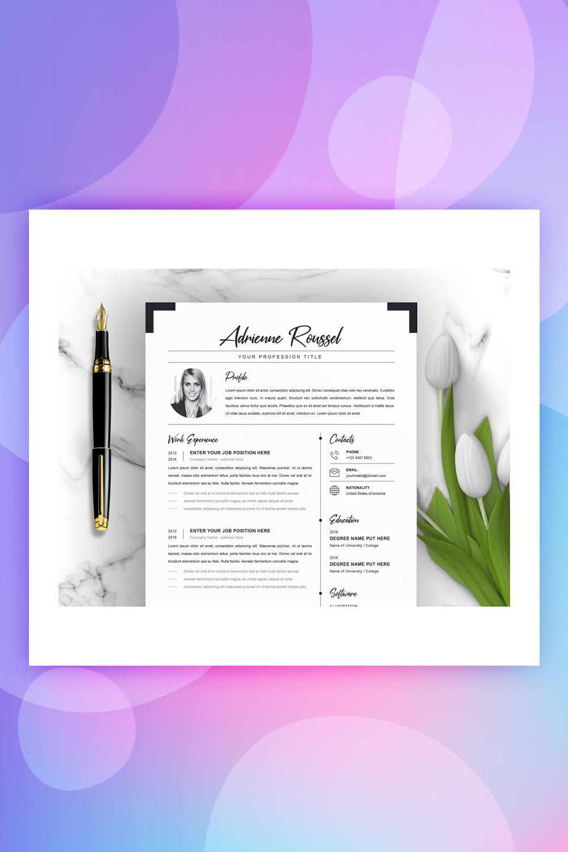 Adrienne Resume Template