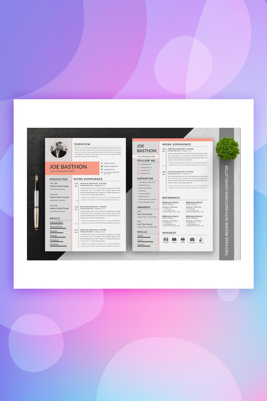 Joe Basthon Editable Resume Template