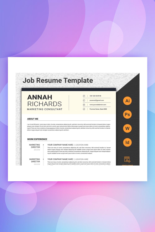 Minimal CV/ Resume Template Resume Template