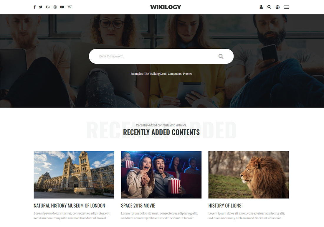 Manual WordPress wiki theme