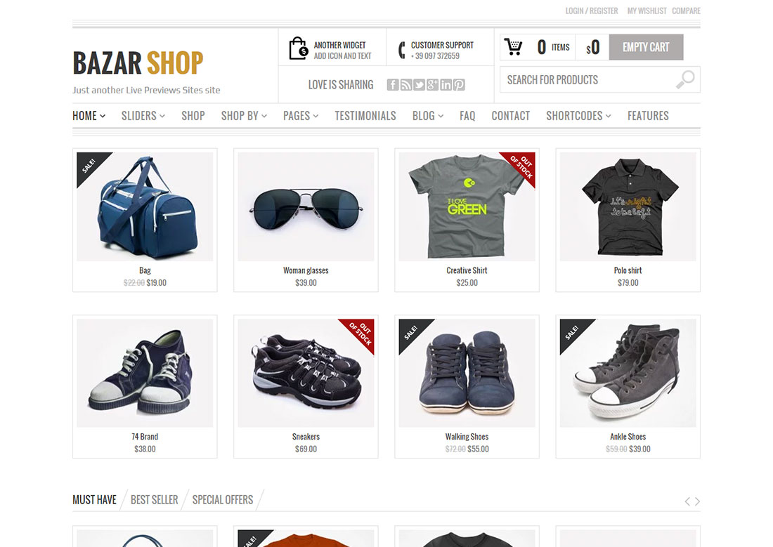 bazar shop mobile friendly ecommerce theme