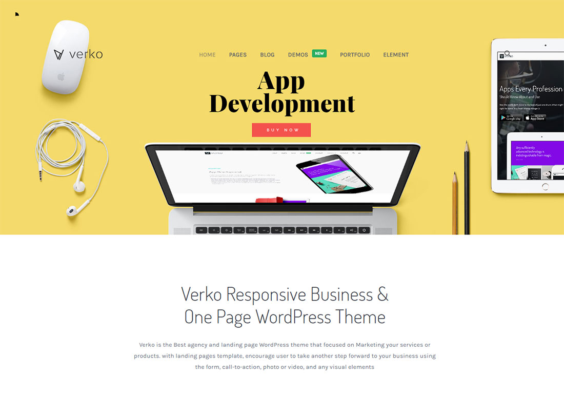 Verko digital agency WordPress theme