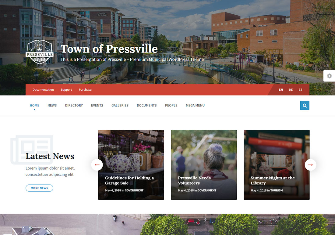 presville government WordPress theme