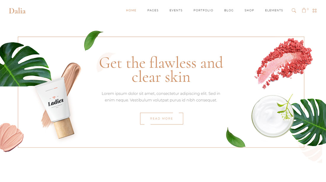 dalia makeup artist wordpress theme