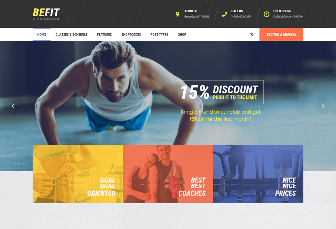 Be Fit Martial Arts WordPress Theme
