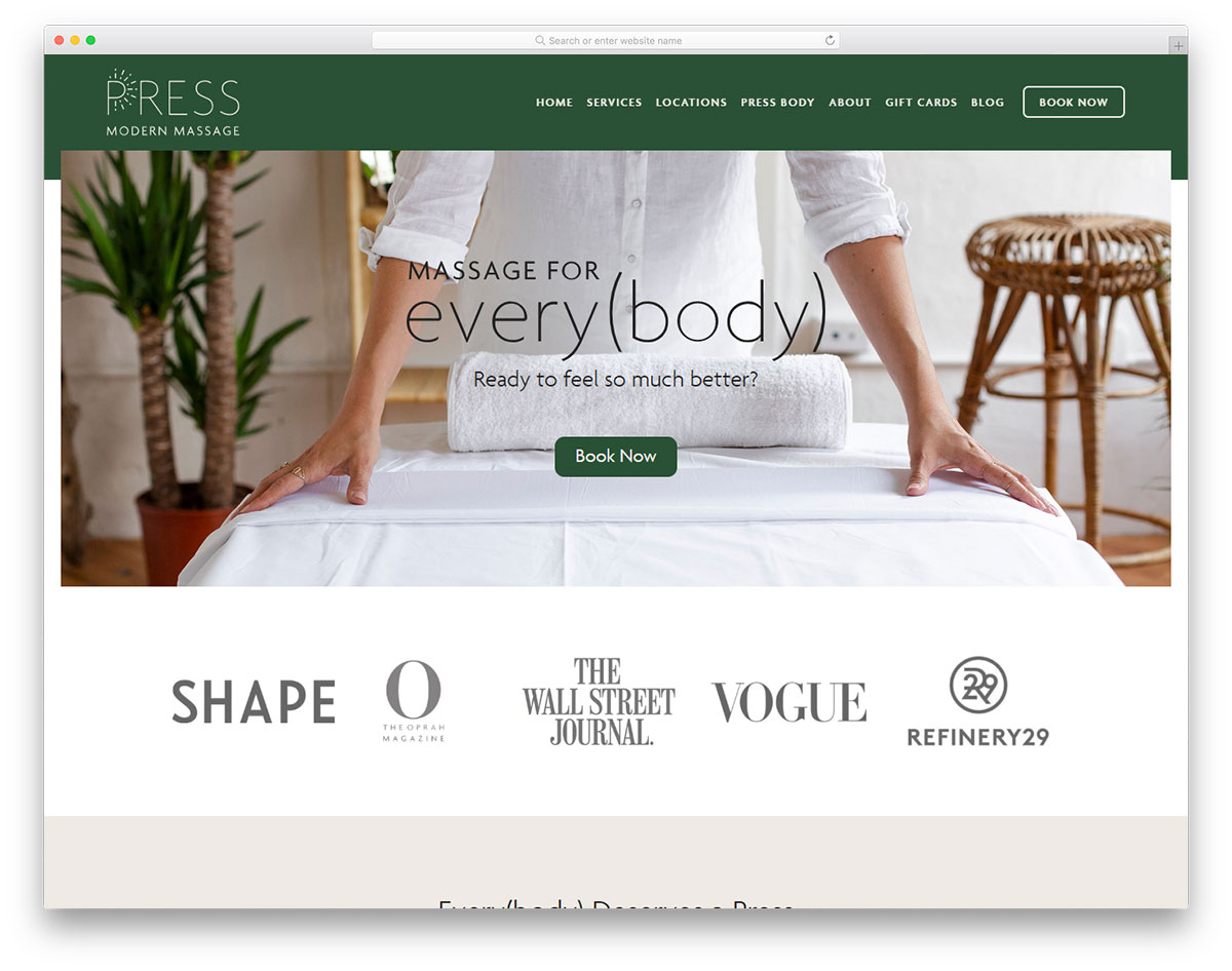 Press Modern Massage