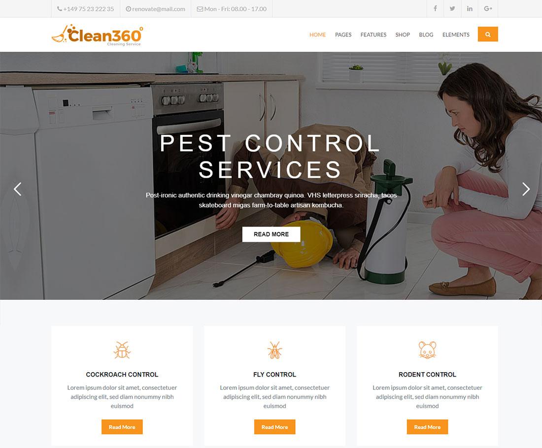 Clean360 Pest Control WordPress Theme