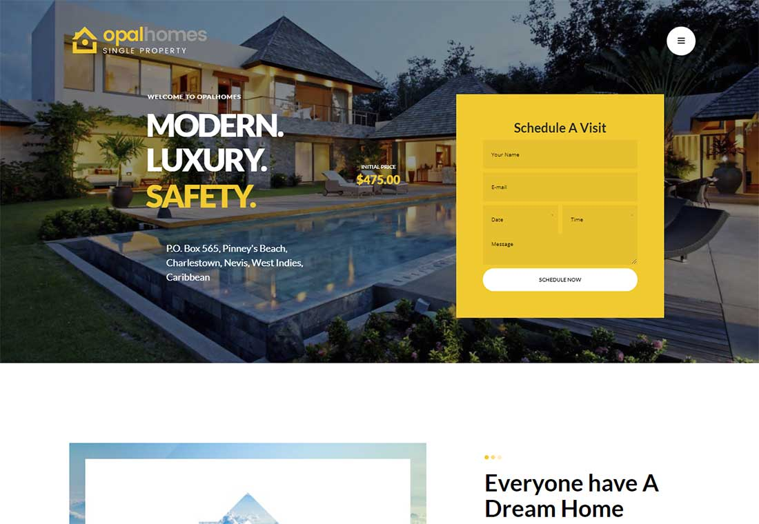 Opalhomes - Property rental WordPress theme