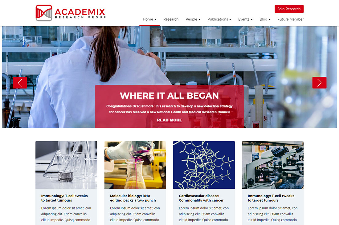 academix science wordpress theme