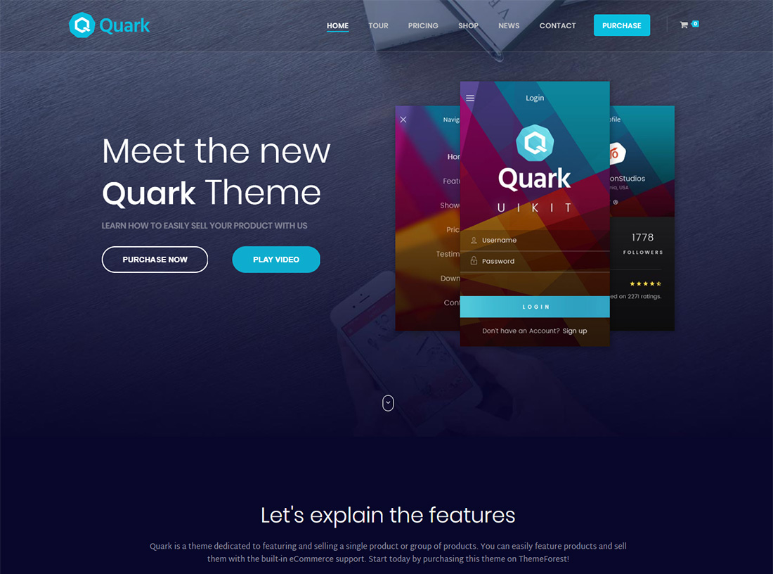 Quark - Single Product WordPress Theme