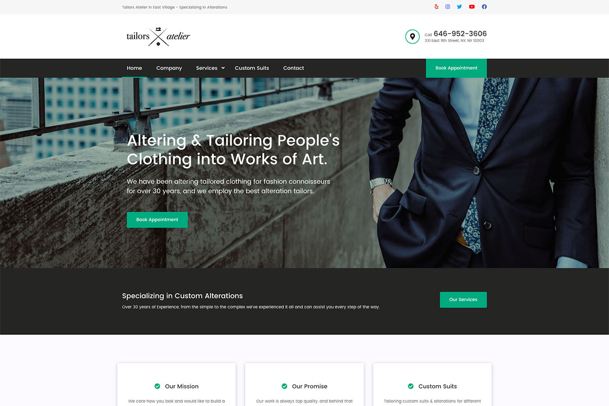 20 Best Tailor Website Design Inspiration 2020 Colorlib