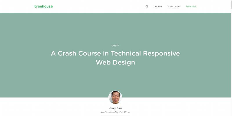 A Crash Course in Technical Responsive Web Design