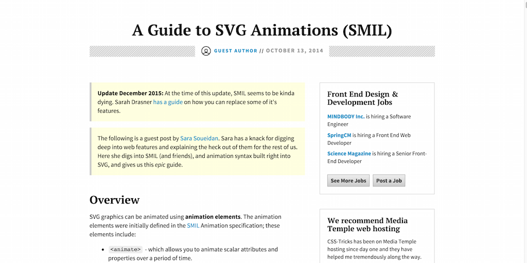 A Guide to SVG Animations (SMIL)