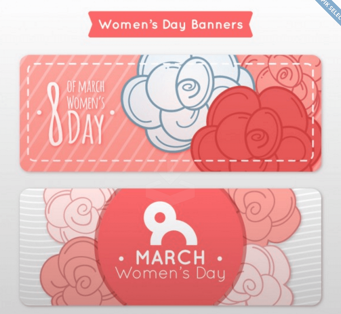 A Set of Banners for Womens Day