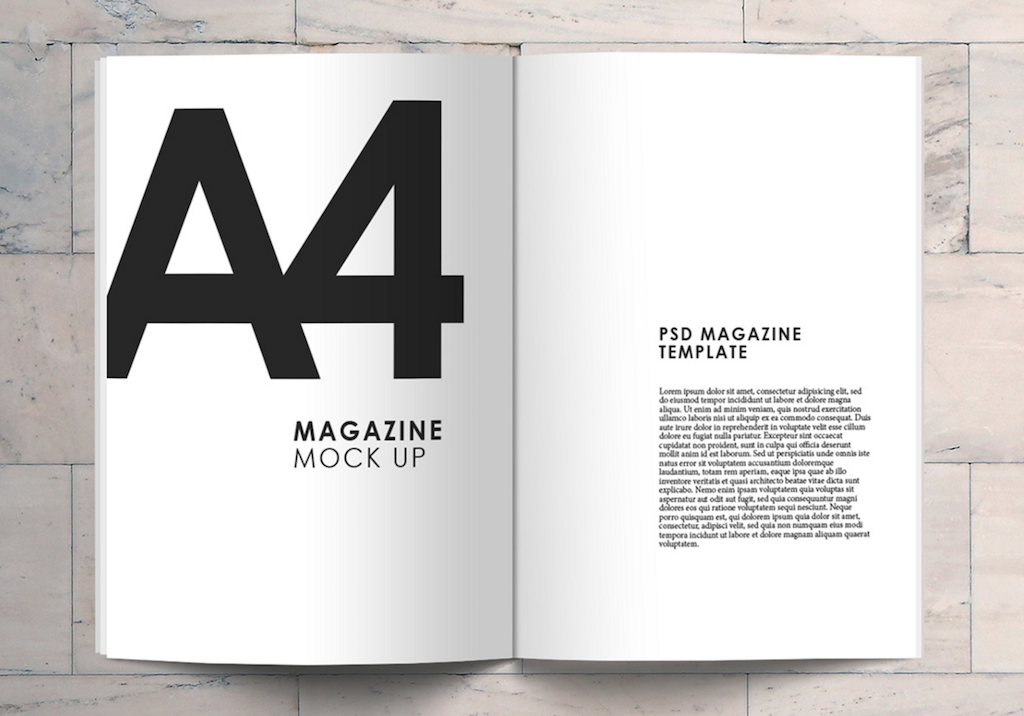 a4 magazine mockup for magazine concepts