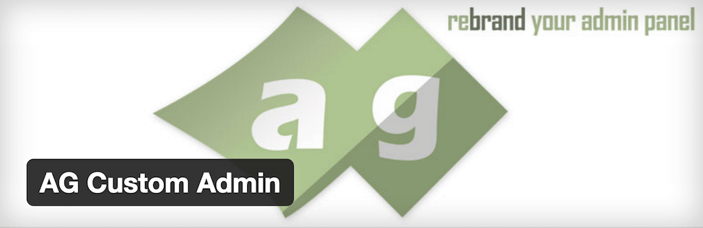 AG Custom Admin — WordPress Plugins
