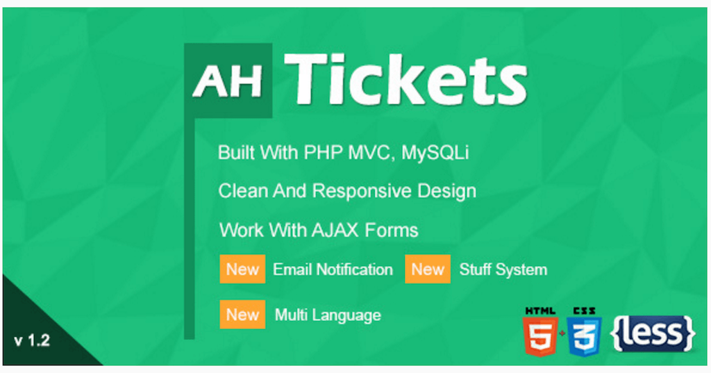 AH Tickets Help And Support System PHP Scripts CodeCanyon