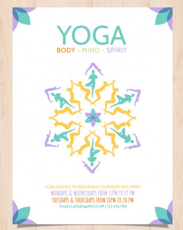 Abstract Flyer for Yoga Classes