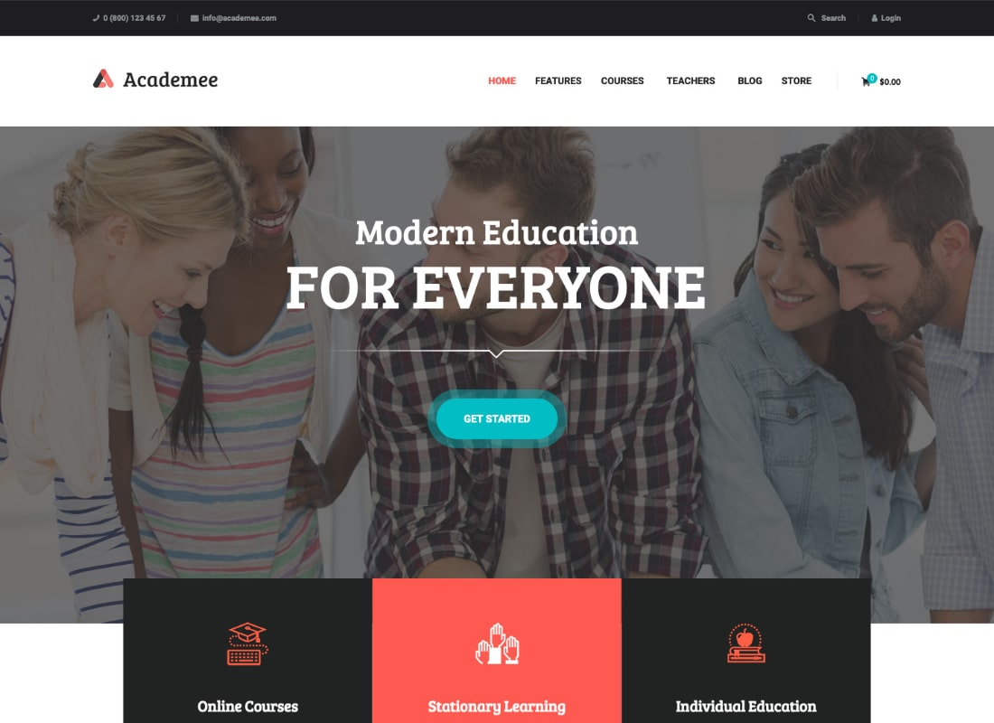 Academee | Education Center & Training Courses WordPress Theme