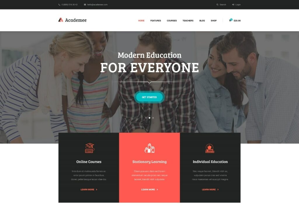 Academee   Education Center & Training Courses WordPress Theme