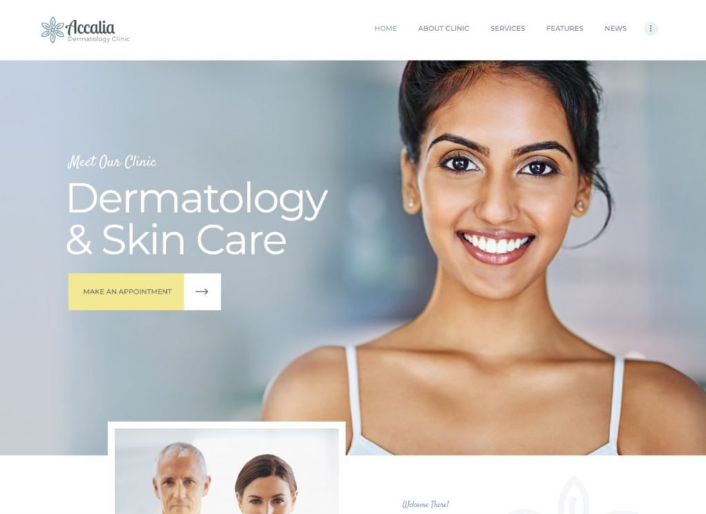 Dermatology Clinic & Cosmetology Center theme