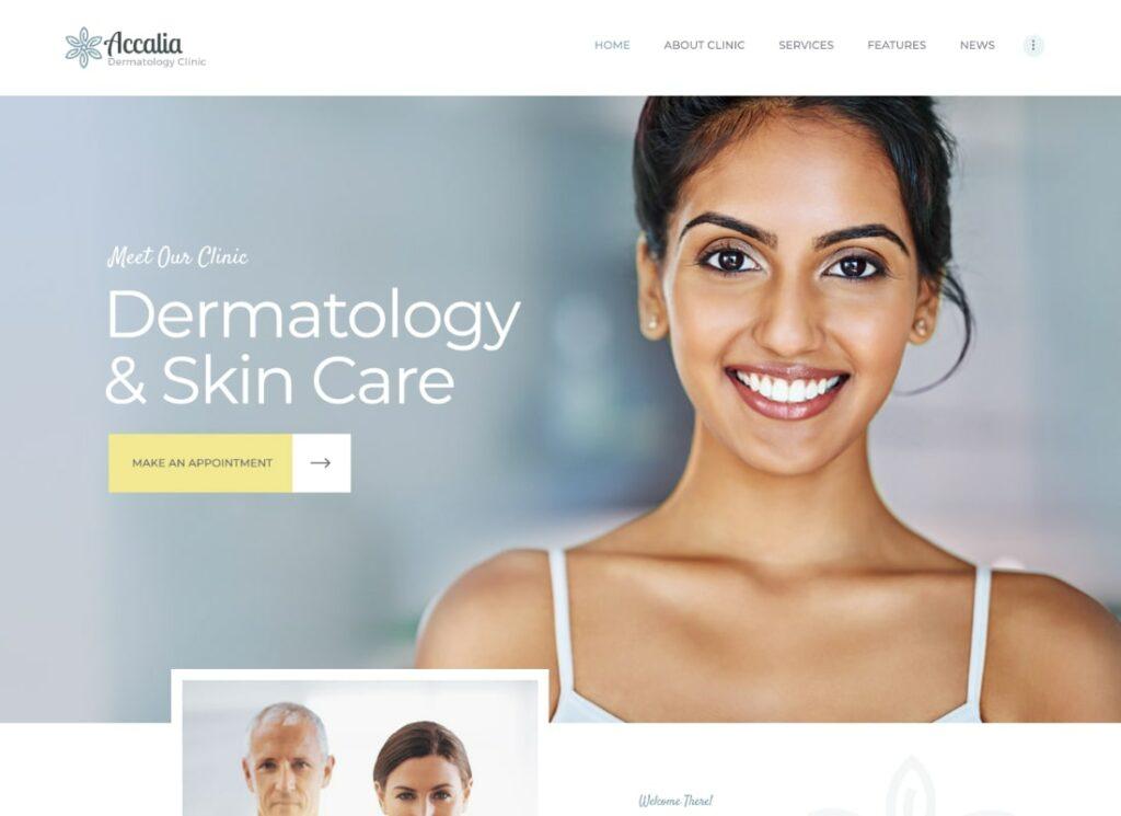 Accalia   Dermatology Clinic & Cosmetology Center Medical WordPress Theme