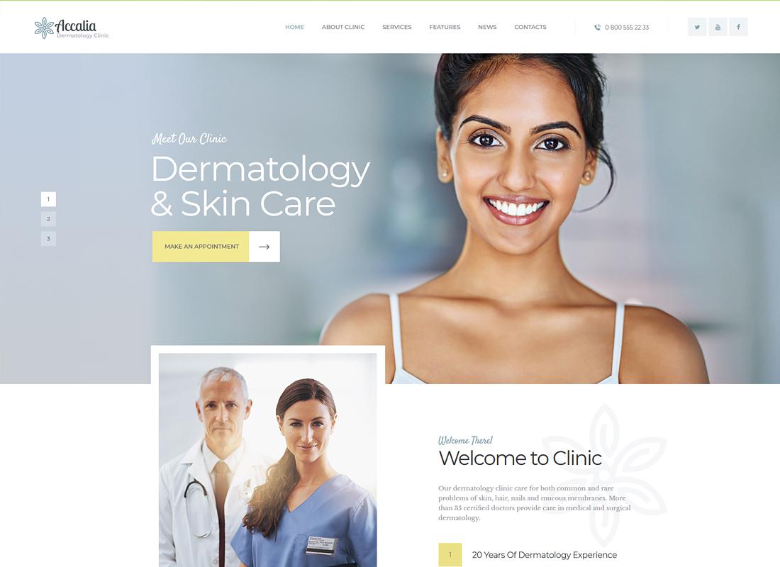 Accalia - Dermatology Clinic WordPress Theme