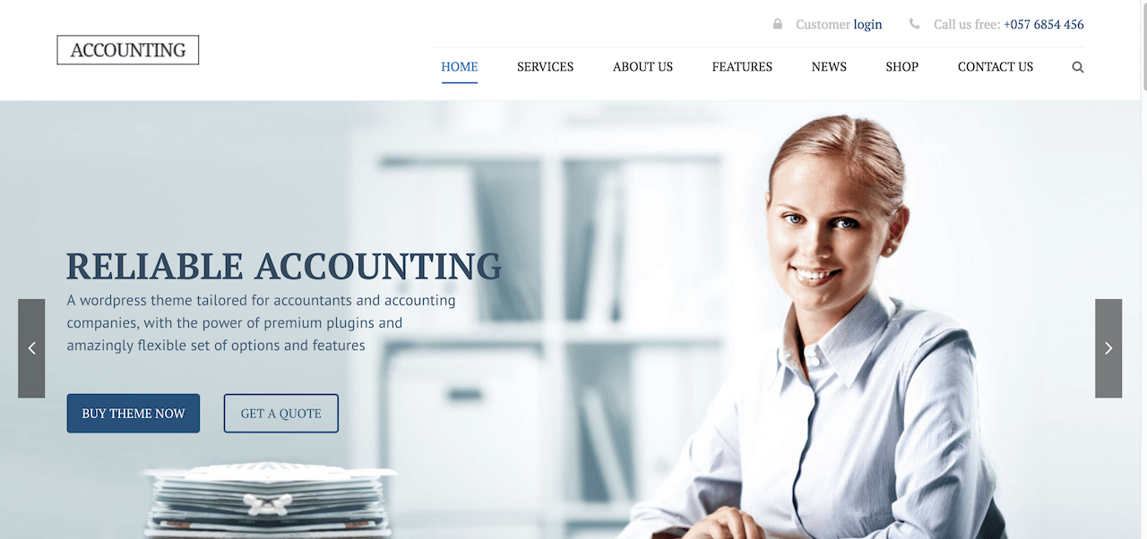 Accounting - Business, Consulting, Finance and Accounting WordPress theme