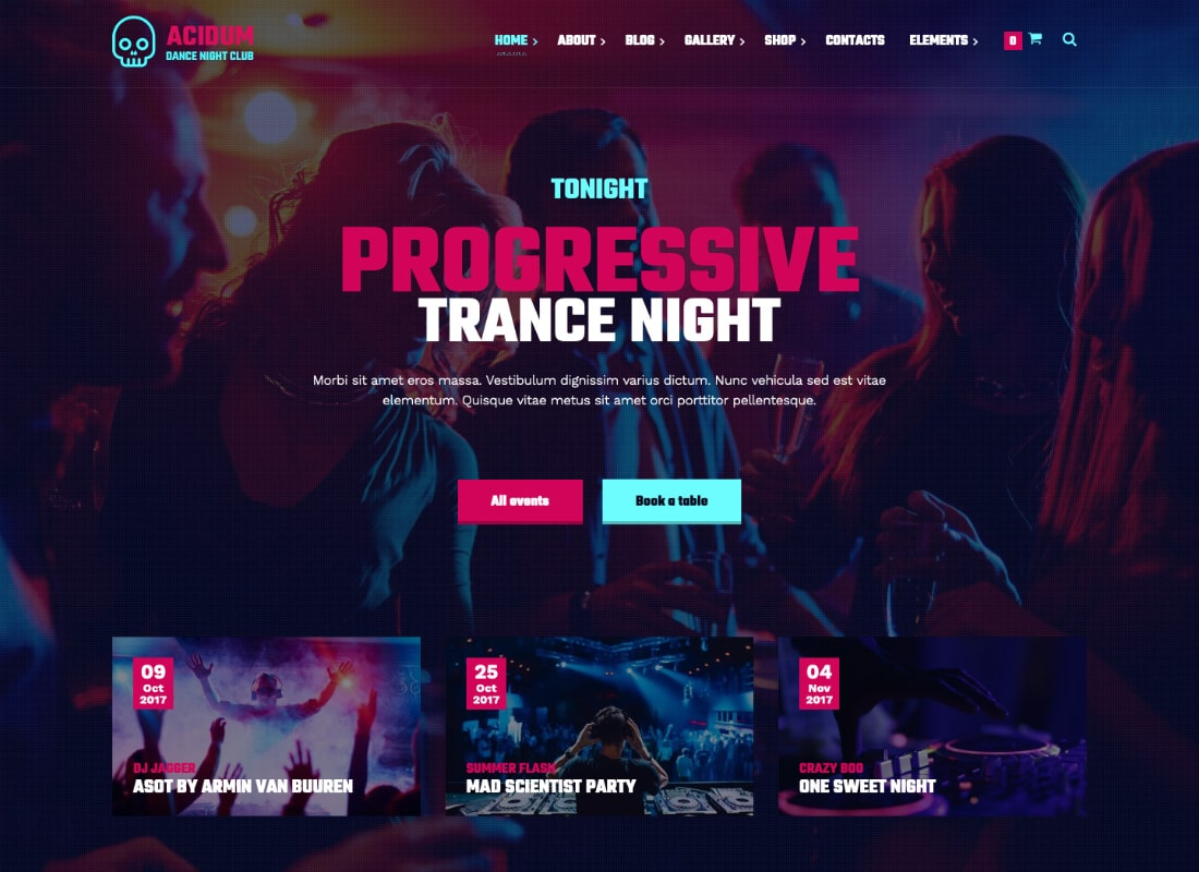 Acidum - Night Club and DJ WordPress Theme