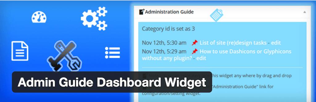 Admin Guide Dashboard Widget — WordPress Plugins