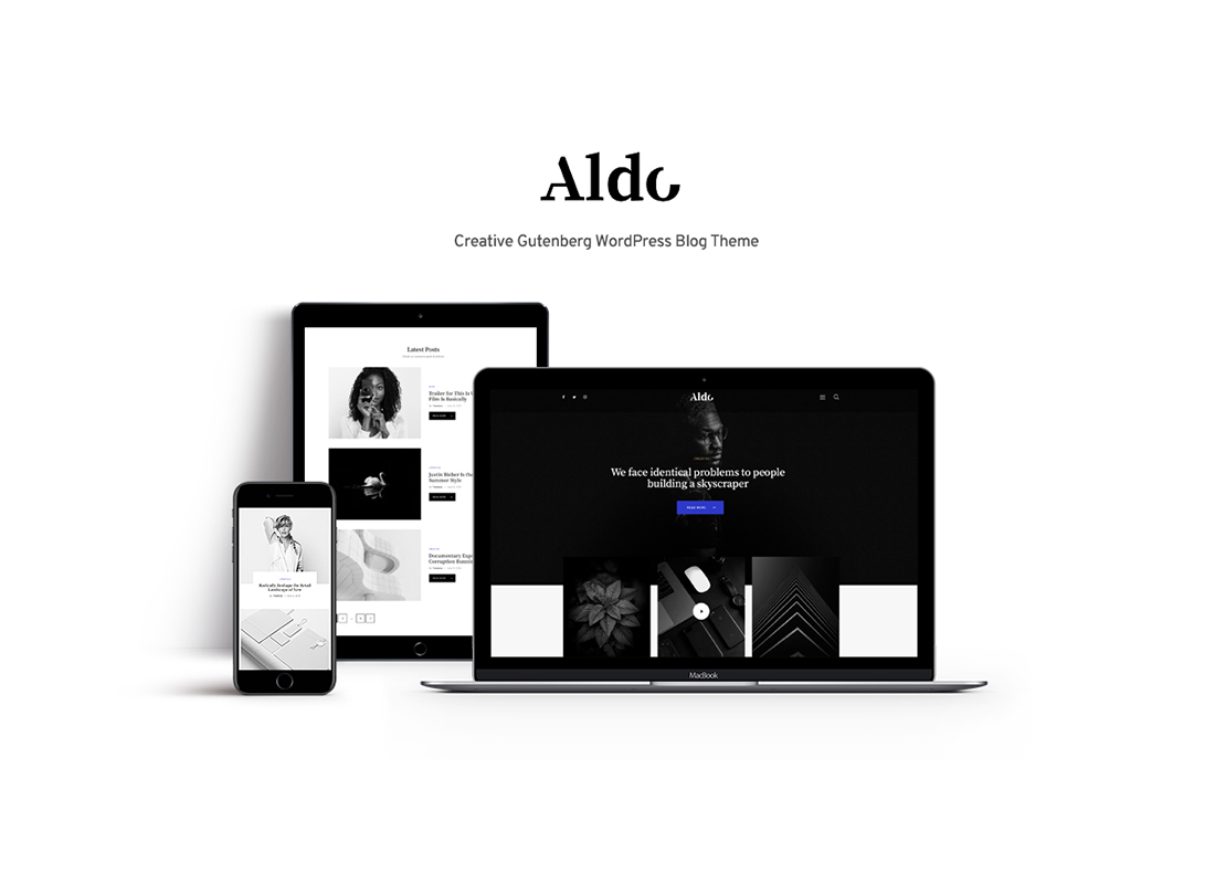 Aldo - Gutenberg Blog WordPress Theme