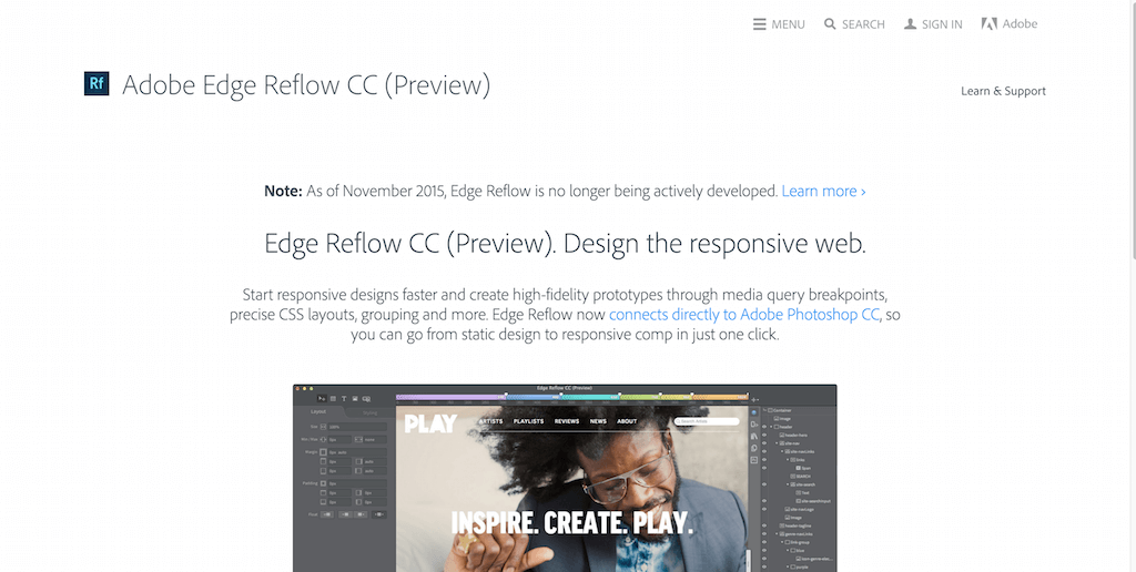 Adobe Edge Reflow CC