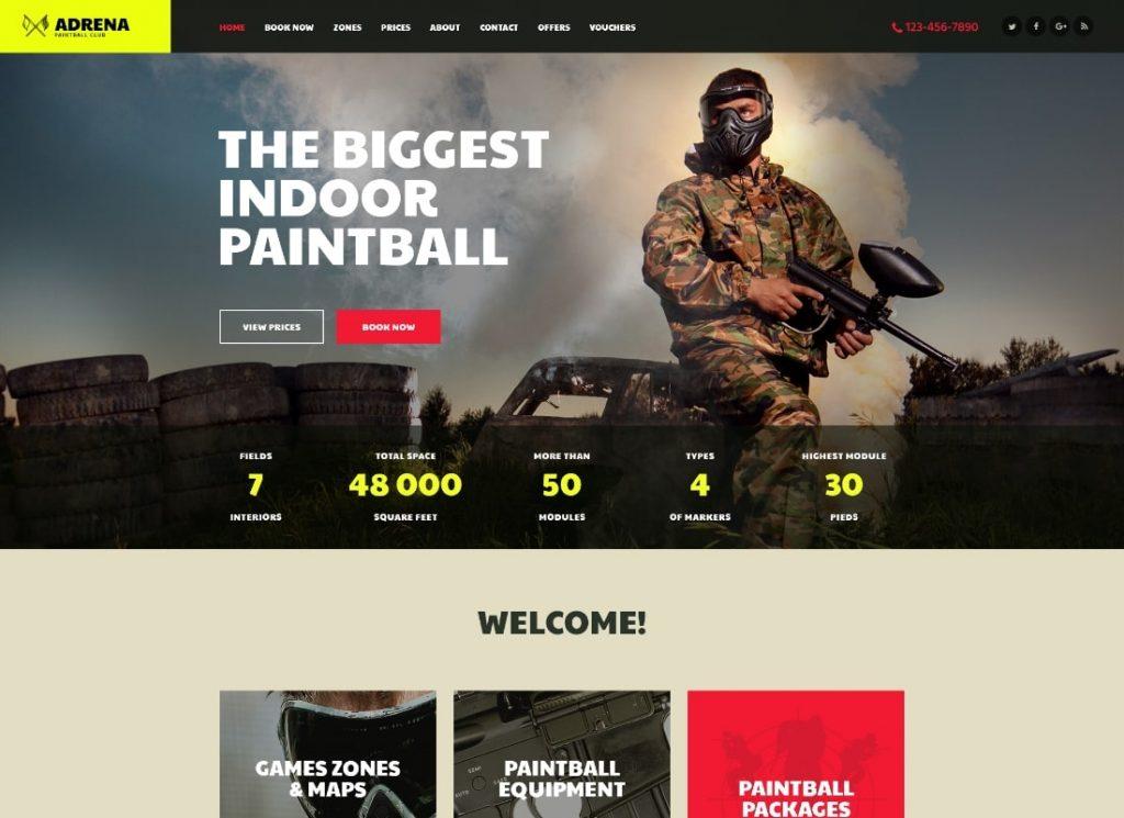 Adrena | Airsoft Club & Paintball WordPress Theme