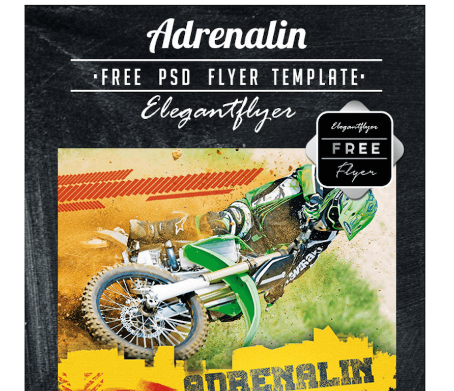 Adrenalin Flyer for Sports Events