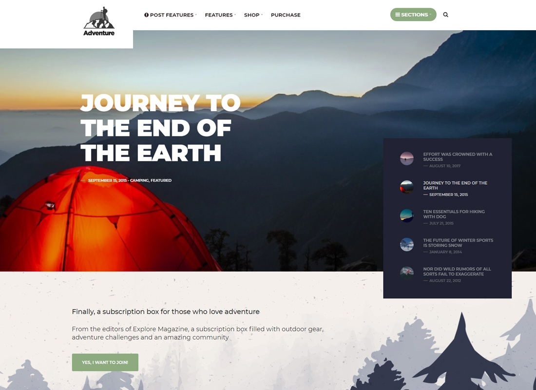 Adventure Press - Outdoor & Activity WordPress Blog