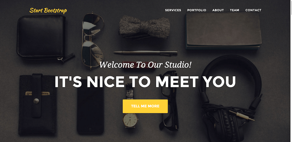 Agency Start Bootstrap Theme
