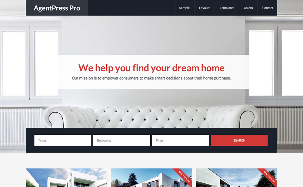 AgentPress real estate theme